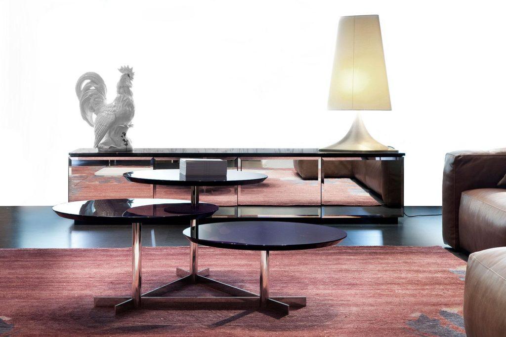 salon table basse noire