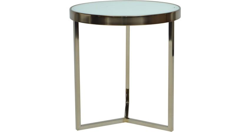 table basse bistro moderne et son plateau de verre