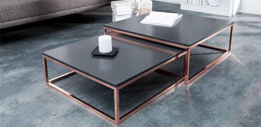 table basse en cuivre pas cher gigogne