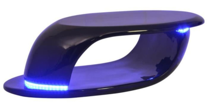 table basse led fibre de verre