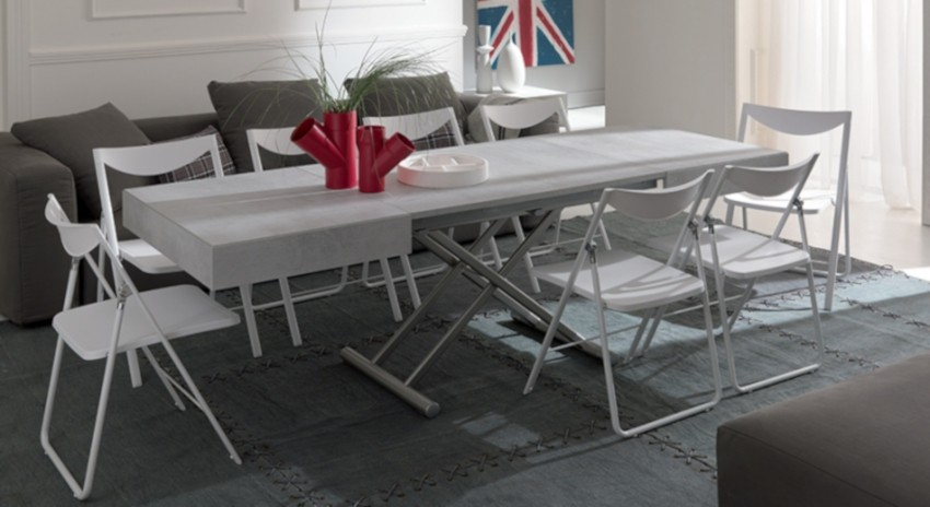 grande table basse relevable extensible