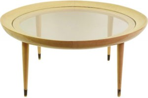 table basse ronde plateau en verre