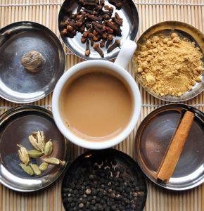 thé indien avec des épices