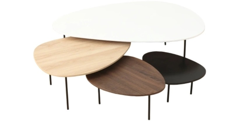 4 tables basses gigognes style scandinave pas cher