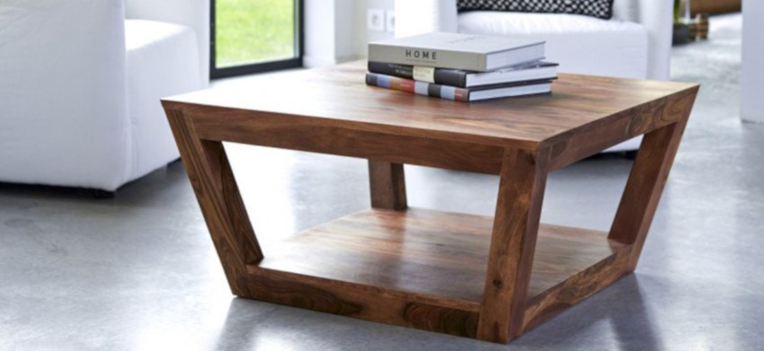 table basse en palissandre massif