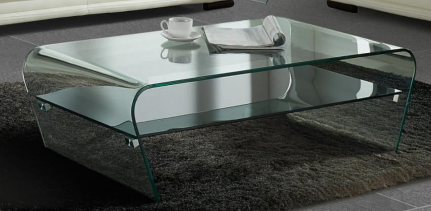 table basse en verre trempé pas cher