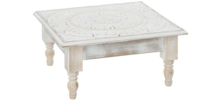 table basse marocaine pas cher blanche en bois