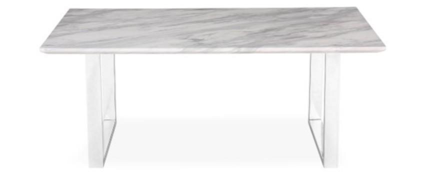 table basse rectangulaire et son plateau gris effet marbre