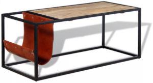 table basse rectangulaire style industriel porte revues