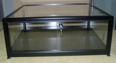 table basse vitrine fermeture à clé