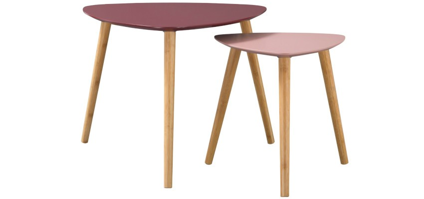 tables basses scandinaves gigognes triangulaires