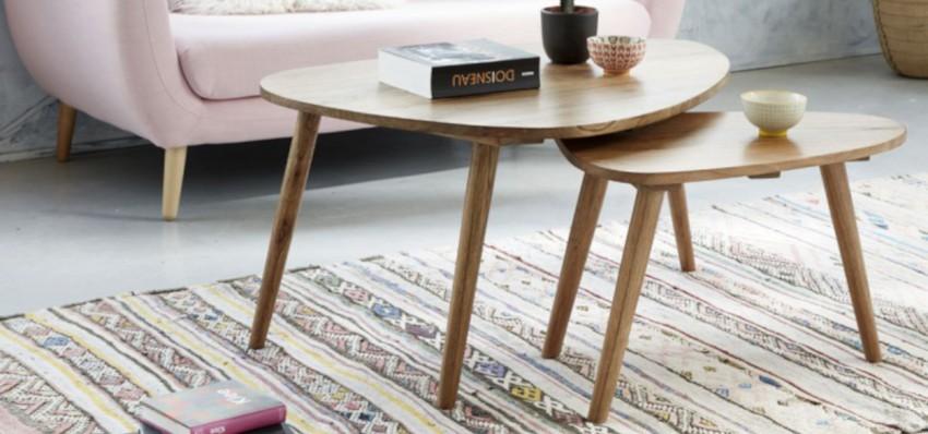 tables basses gigognes en bois de mindy