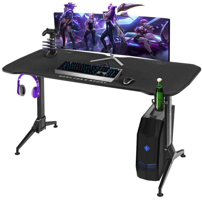 bureau gamer avec grande station