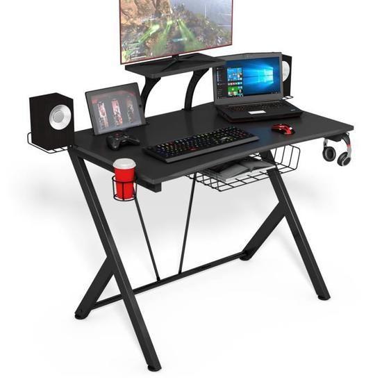 bureau gamer pas cher avec accessoirs