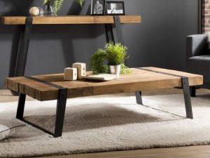 Table basse bois recyclé