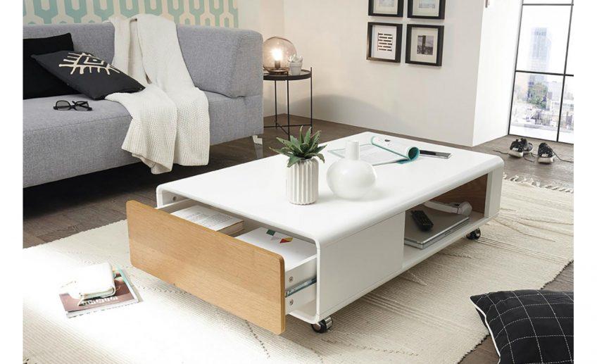 Table basse avec rangements