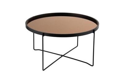 Table basse cuivre noir