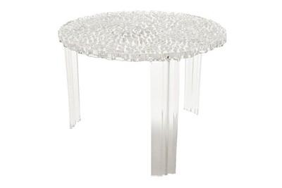 Table basse transparent