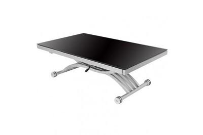 TABLE BASSE RELEVABLE NOIR
