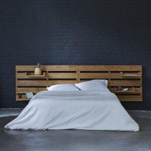 Tête de lit en palette minimaliste