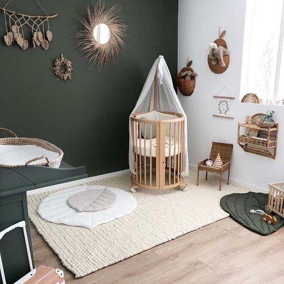 chambre de bébé style jungle